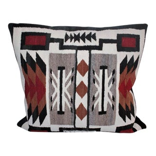 Large Geometric Navajo Indian Weaving Pillow
