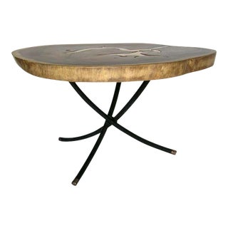 Teak and Bronze Table