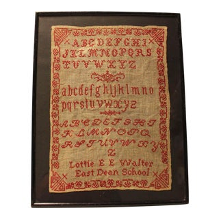 English 19th Century Embroidery Sampler