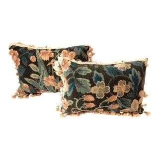 Floral Lumbar Pillows - a Pair