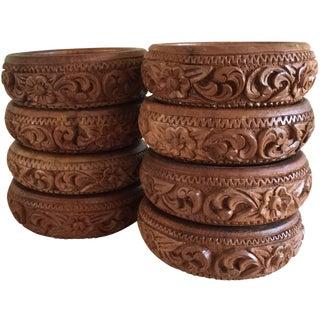 Vintage Hawaiian Carved Bowls - Set of 8