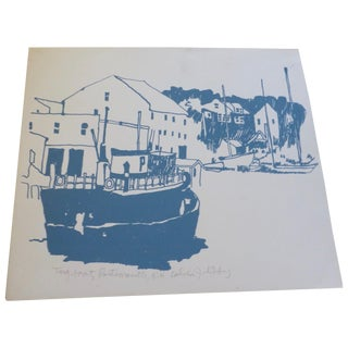"""Tugboat, Portsmouth NH"" Modern Print by C. Libby"