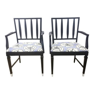 Vintage Black and Lavender Chairs - A Pair