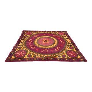 Antique Purple & Yellow Suzani Textile