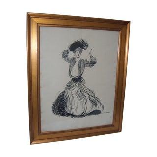 Vintage 1906 Original Drawing by John G Wilson