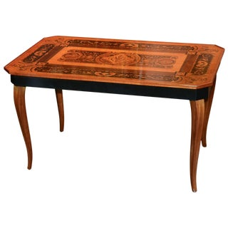 Italian Marquetry Inlaid Low Table