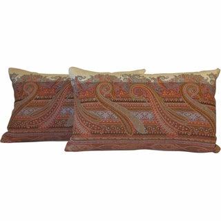 19th Century Scottish Wool Paisley Pillows - Pair