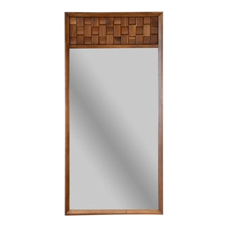 Brutalist Walnut Block Mirror