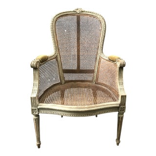 Antique French Caned Fauteuil