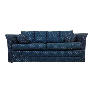 Vintage Upholstered Two Cushion Sofa Bed
