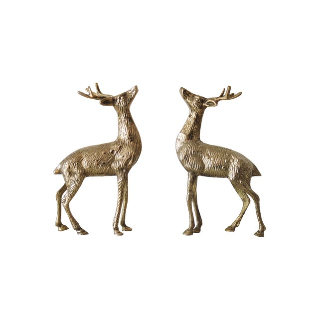 Solid Brass Reindeer - A Pair - Image 1 of 4