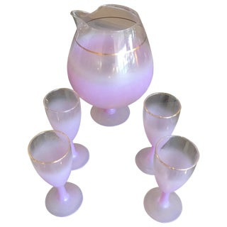 Blendo Purple Cocktail Pitcher & Four Glasses