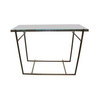 Handmade Modern Steel & Glass Console