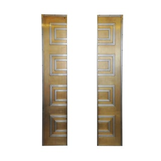 Glamorous Bronze and Stainless Entry Doors