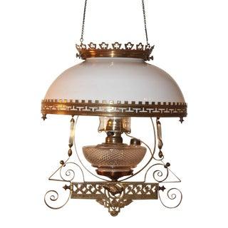 Antique Victorian Electric Oil Lamp Chandelier