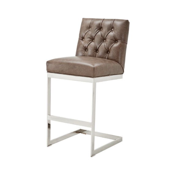 Gray Leather Tufted Bar Stool Chairish : 47741ddc bacb 469a 892f fc3359a2f641aspectfitampwidth640ampheight640 from www.chairish.com size 630 x 630 jpeg 23kB