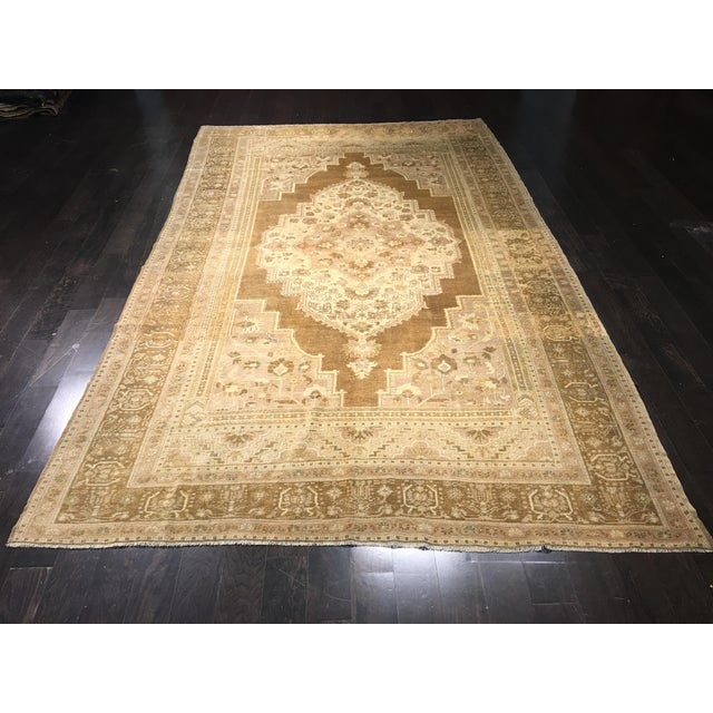 "Image of Bellwether Rugs Vintage Turkish Oushak Rug - 6'10"" x 11'7"""