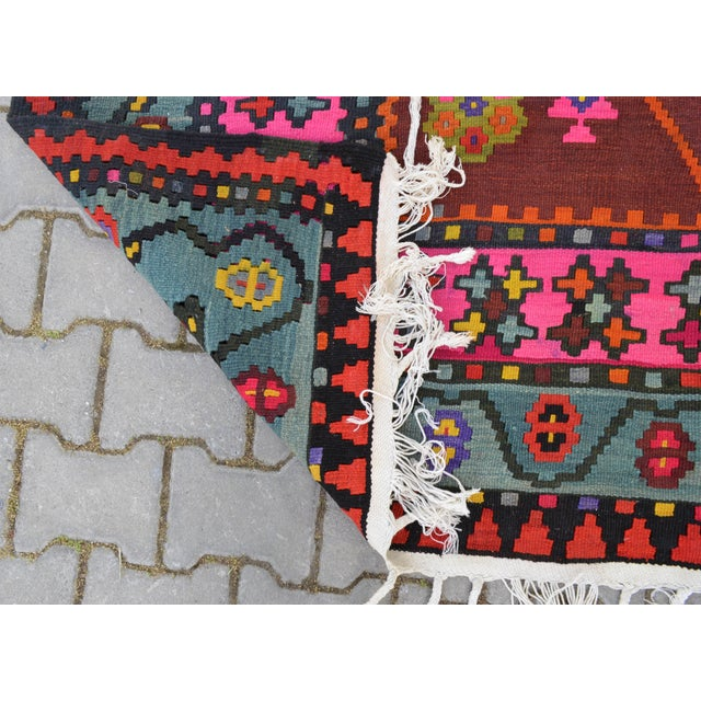 Anatolia Turkish Kilim Rug - 6′6″ × 14′2″ - Image 10 of 10