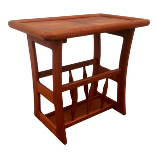 Teak Table Magazine Rack