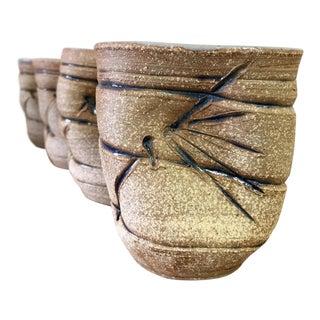 Mid Century Ceramic Tea Cups- Set of 4