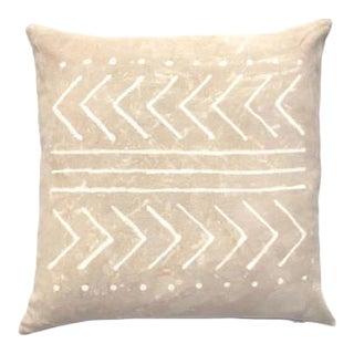 """Tan Tribal Pattern Boho Pillow Cover - 20"""" x 20"""""""