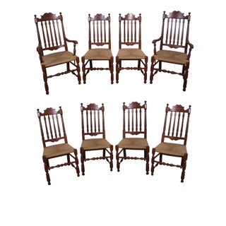 Solid Cherry Bannister Back Dining Chairs by Pennsylvania House - Set of 8