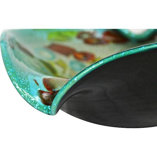 Murano Aventurine Turquoise Bowl - Image 7 of 7