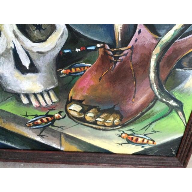 Haitian Voodoo Oil Painting, 1972 - Image 7 of 8
