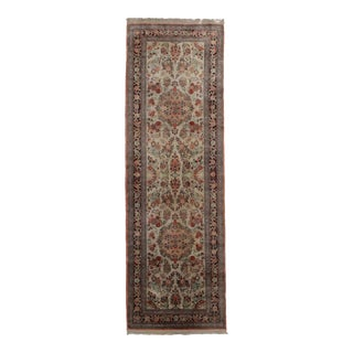 "Persian Hand-Knotted Qum Runner - 2'7"" x 8'"