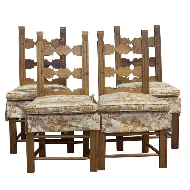 Vintage Sarreid LTD Pine Wood Dining Set - Image 4 of 5