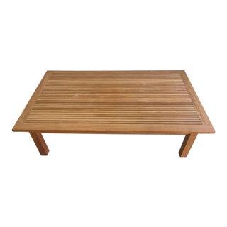 Mid-Century Modern Style Slatted Teak Coffee Table