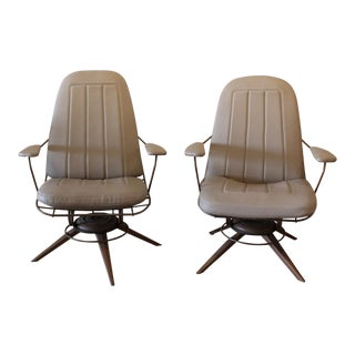 Mid-Century Modern Homecrest Wire Deck Chairs - A Pair