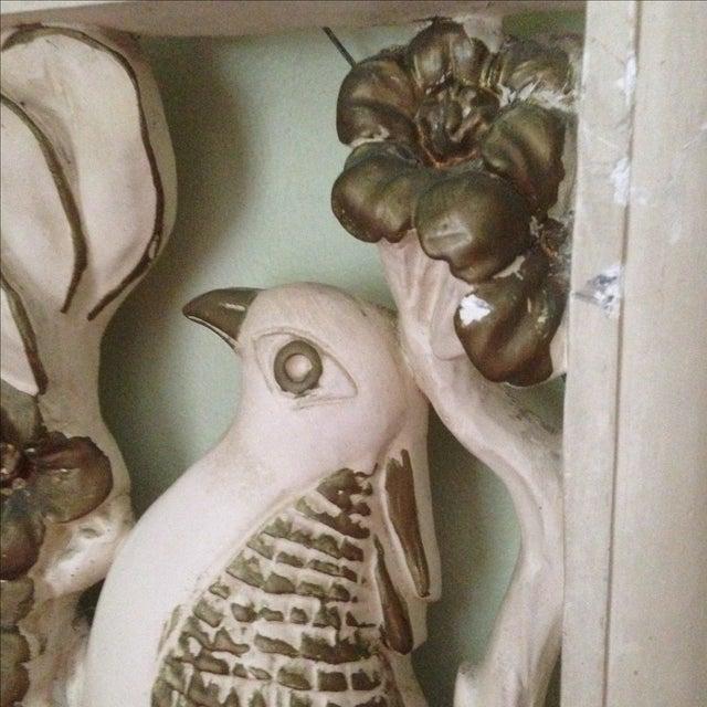 Mid Century Bird & Flower Wall Hanging - Image 6 of 11