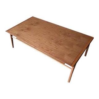 Custom Mid Century Drexel Style Walnut Coffee Table