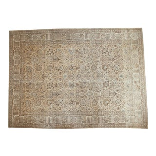 "Turkish Distressed Tabriz Carpet - 11'2"" X 15'"