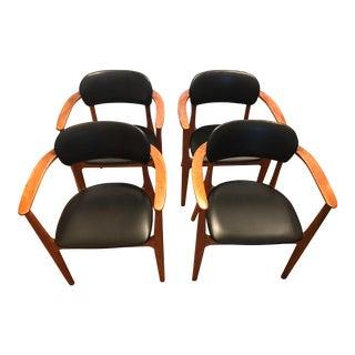 Alfred Sand Danish Teak Chairs - Set of 4