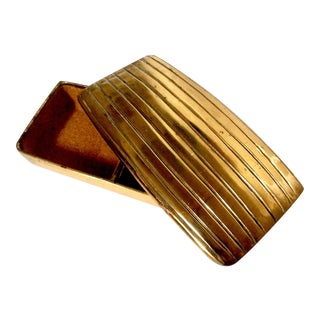 Ben Seibel Long Brass Box & Ribbed Lid