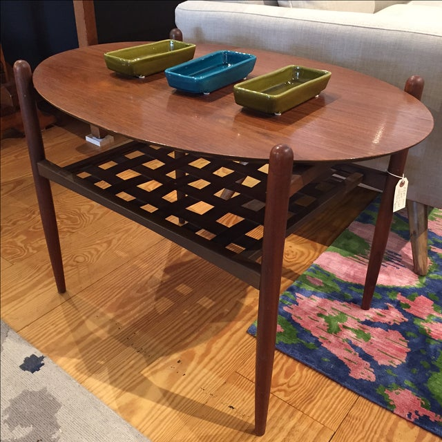 Lane Walnut Side Tables - Pair - Image 5 of 6