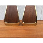 Image of 1960's Modern Brass and Walnut Lamps by Laurel