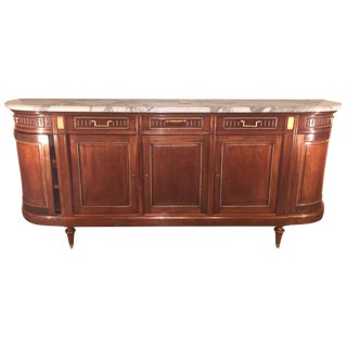 Maison Jansen Louis XV/ Directoire Style Marble Top Mahogany Sideboard