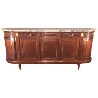 Maison Jansen Louis XV/ Directoire Style Marble Top Mahogany Sideboard