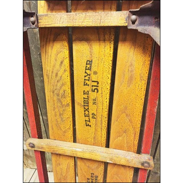 Vintage Weathered Wood & Metal Runner Sled -- Flexible Flyer Model 51J - Image 9 of 11
