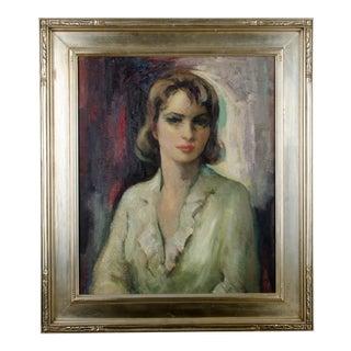 Mid-Century Portrait Painting - Long Island, 1940