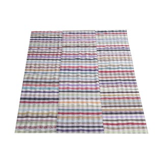 Vintage Turkish Multi Color Handmade Flatweave - 6′6″ × 7′5″