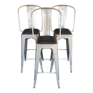 Design Within Reach Tolix Bar Stools - Set of 3
