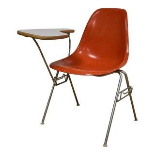 Eames School Shell Chair & Desk in Orange