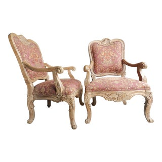 Rococo Open Arm Chairs - A Pair