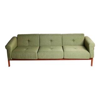 Mid-Century Modern Sage Green Sofa