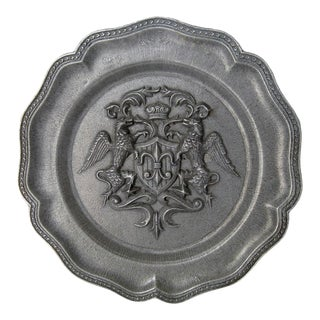 Spanish Pewter Wall Plate