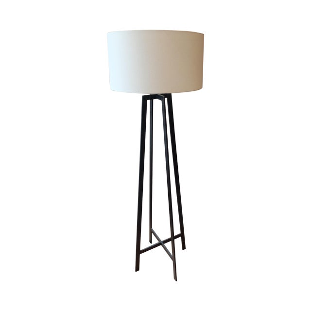 Crate & Barrel Castillo Black Floor Lamp - Image 1 of 3